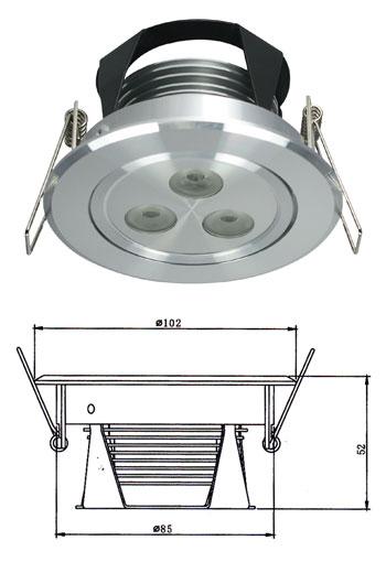 LED HIGH POWER DOWN LIGHT 3X3Watt (New Series)